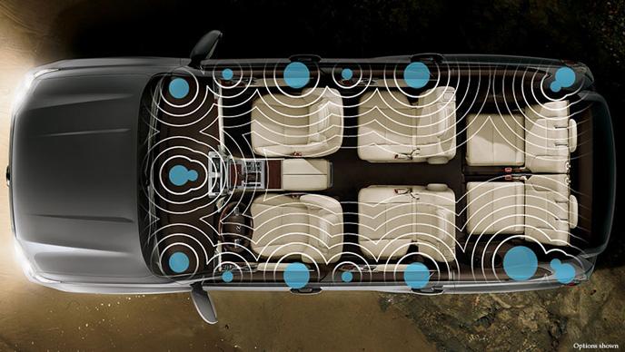 レクサスGXに搭載されたマークレビンソンのオーディオシステム