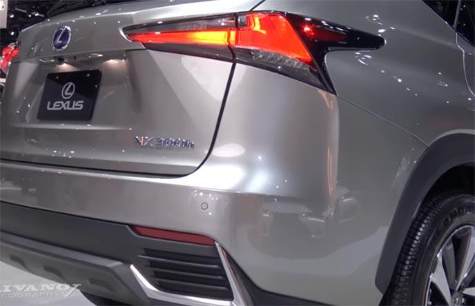 レクサス新型NXのリアコンビネーションランプ