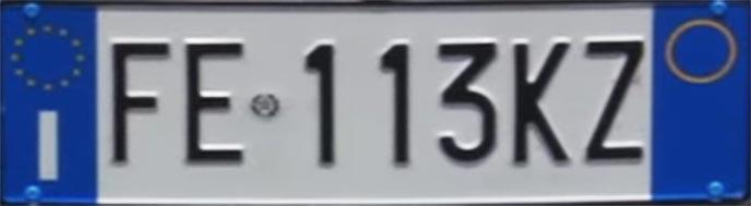 アメリカ車のナンバープレート