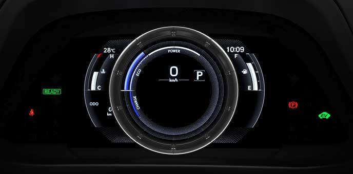 新型UX UX250のセンターメーター