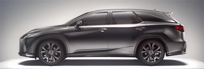 新型レクサスRXの7人乗りシート