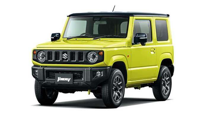 キネティックイエローブラック2トーンルーフの新型ジムニー