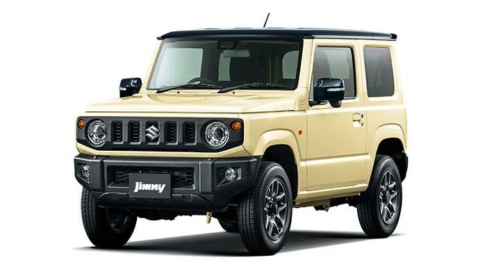 シフォンアイボリーメタリックブラック2トーンルーフの新型ジムニー
