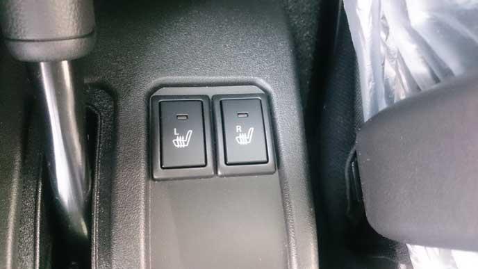 新型ジムニーのシートヒーター