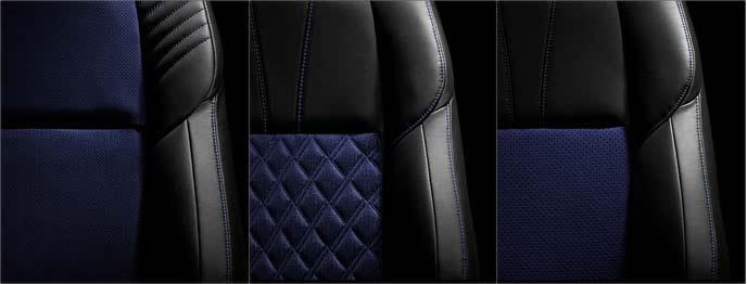 ハリアー後期特別仕様車スタイルブルーイッシュのシート