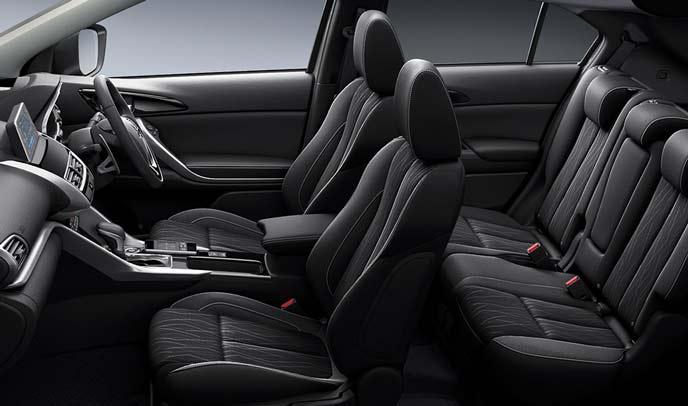 エクリプスクロス特別仕様車「ブラックエディション」のインテリア