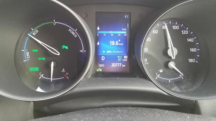 車の走行距離を示すコックピット内のメーター