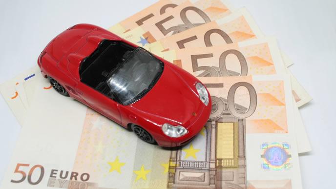 自動車とお金の画像