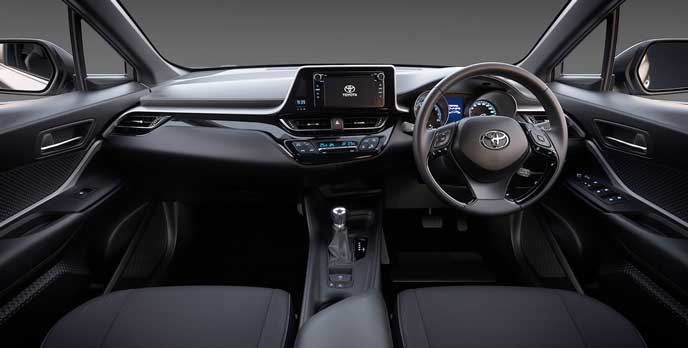 トヨタC-HRのインテリア