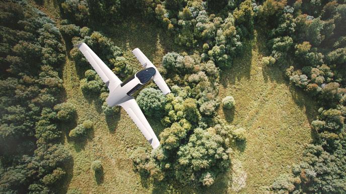 リリウムジェットの飛行風景