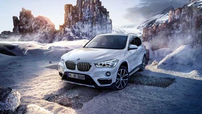 BMWX1のフロントビュー
