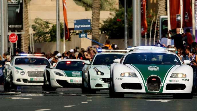 法律を取り締まる海外の警察