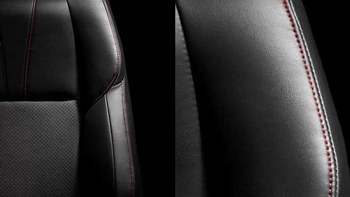 ウルトラスエード+合成皮革のシート表皮