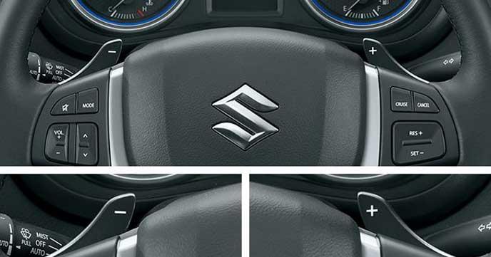新型SX4S-CROSSのハンドル周り