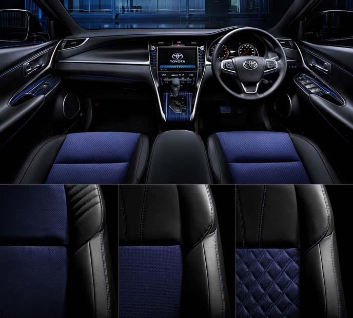 新型ハリアー後期モデルの特別仕様車スタイルブルーイッシュのシート