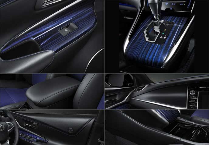 ハリアー後期型の特別仕様車スタイルブルーイッシュの内装各所