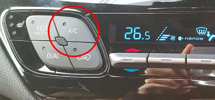 エアコンのボタン
