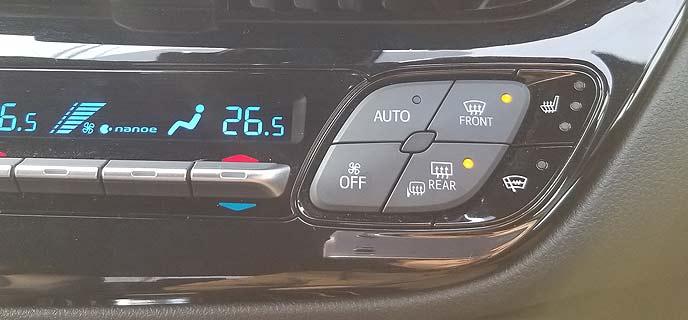 エアコンパネルボタン