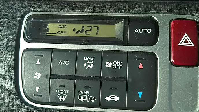 常に自動車のエアコンを付けている