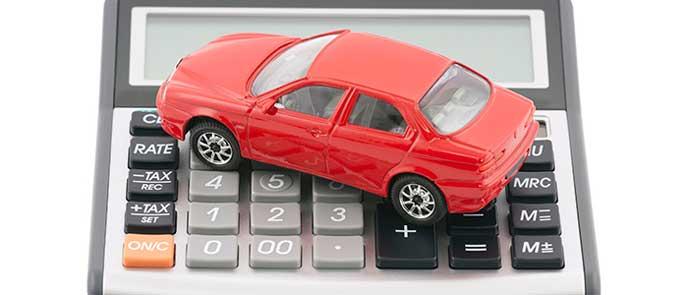 車の維持費を計算する電卓