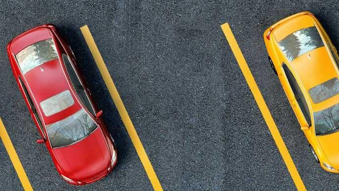 バック駐車しやすい黄色い線