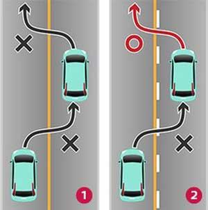 正しい車線変更の方法