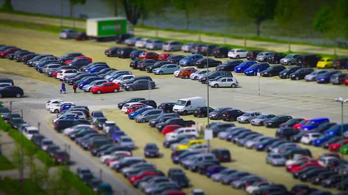 ミニカーの駐車場