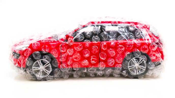 車を守る梱包材