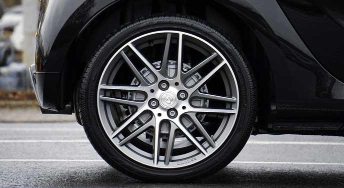 空気圧が適正のタイヤ