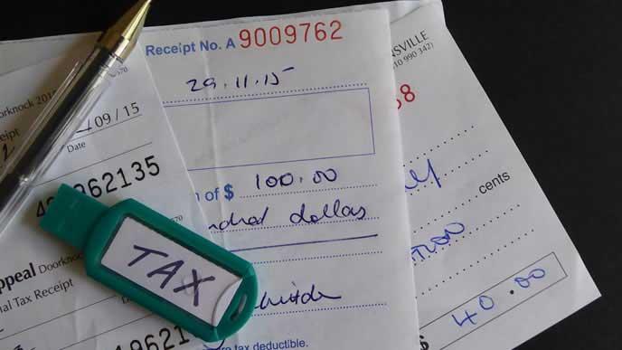 税金の請求書