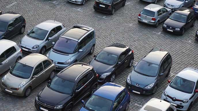 都心に位置する月極駐車場
