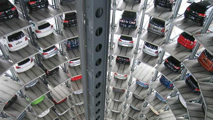 セキュリティ万全の駐車場