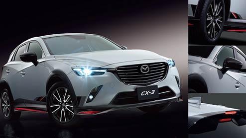 新型CX-3のエアロパーツを純正とKENSTYLEとDAMDで比較