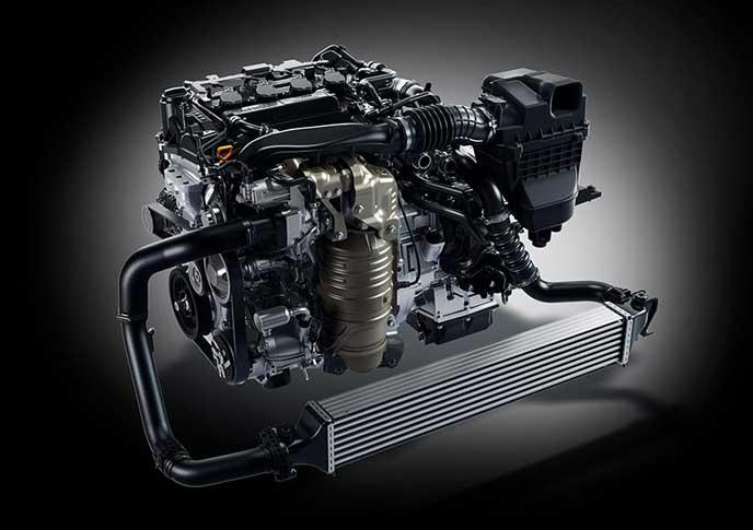 新型シビックハッチバックのエンジン