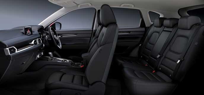 CX-5のパーフォレーションレザー・ブラックシート