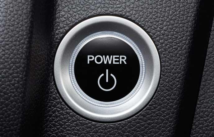 新型フィットのパワースイッチ