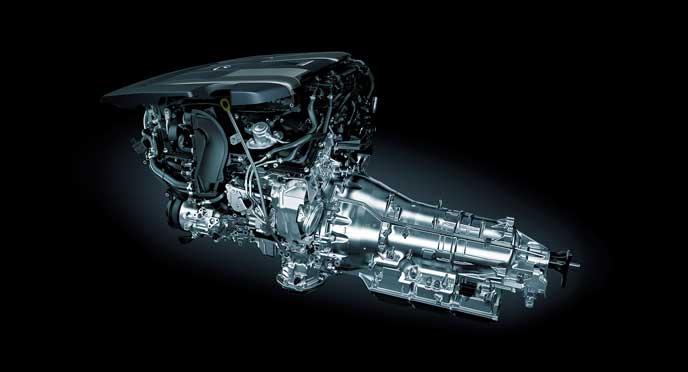レクサス新型LSのツインターボエンジン