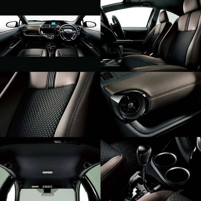 アクア特別仕様車クロスオーバー グラムの内装