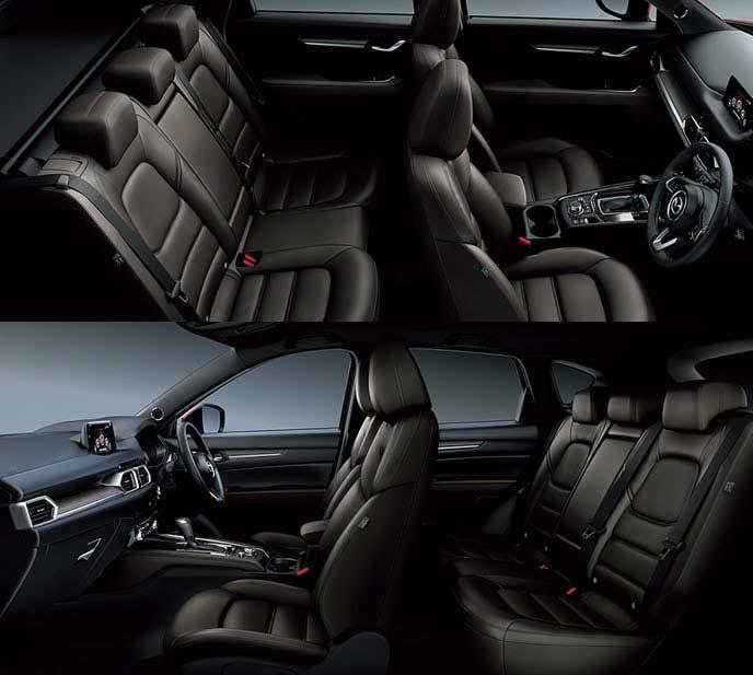 CX-5エクスクルーシブモードの厚みのあるシート