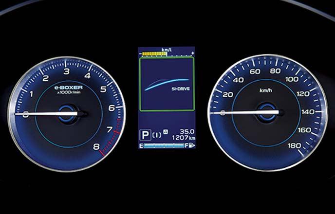 スバルXVアドバンスのマルチインフォメーションディスプレイ