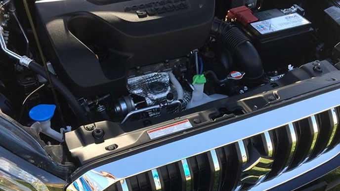 SX4のエンジンルーム