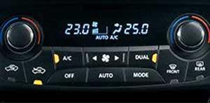 新型SX4のエアコン