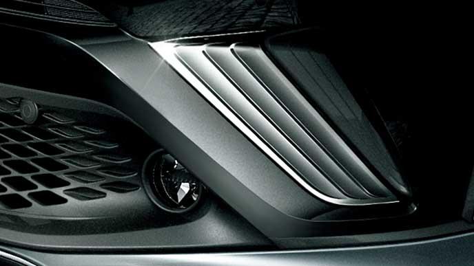 C-HRのメタリックスタイルforトヨタのフロントコーナーガーニッシュ