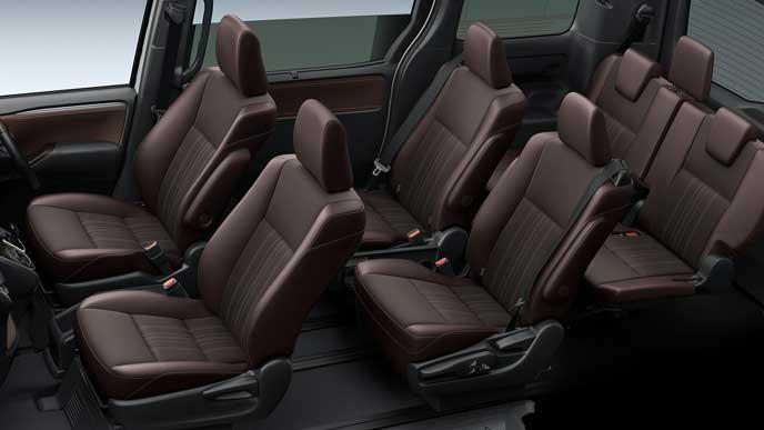新型エスクァイアのブランノーブ・合成皮革×バーガンディ・ブラックシート