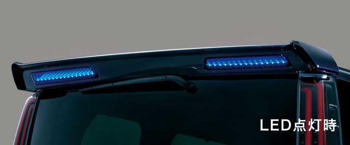 LED付ボディ同色リヤスポイラー