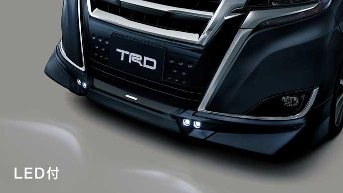 TRD・エアロパーツセットのフロントスポイラー