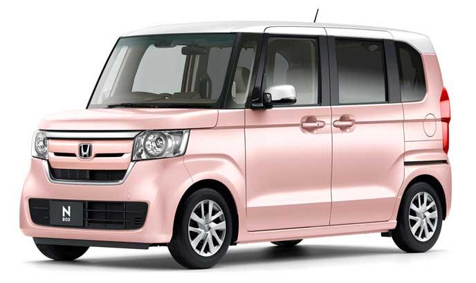 プレミアムピンクパール・ホワイトの新型N-BOX