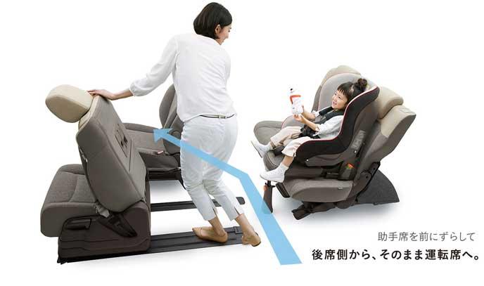後席から運転席への移動も簡単な新型N-BOX
