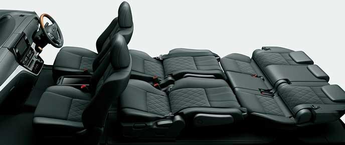 エスティマのセカンドシート・サードシートフラットモード