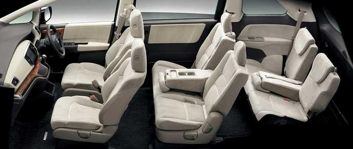新型オデッセイの6名乗車モード